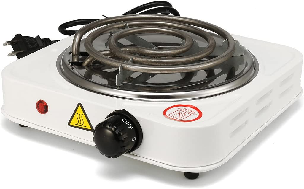 Lovinn Po/êle de Cuisson 1000/W /électrique Portable R/échaud Br/ûleur Plaque chauffante Maison Dortoir Cook Voyage R/échaud de Cuisson