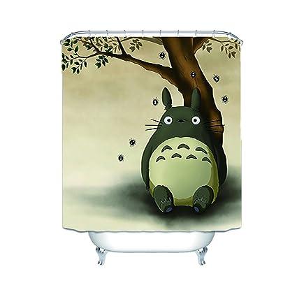 Frances Yeates Totoro Bathroom Waterproof Shower Curtain 60X72 Inch