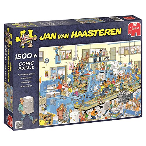 Jumbo Jan Van Haasteren The Printing Office Jigsaw Puzzle (1500 Piece)