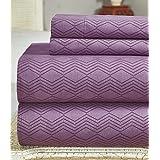 Bamboo Comfort Plus 2400 Series Sheet set (Lavender, Queen)