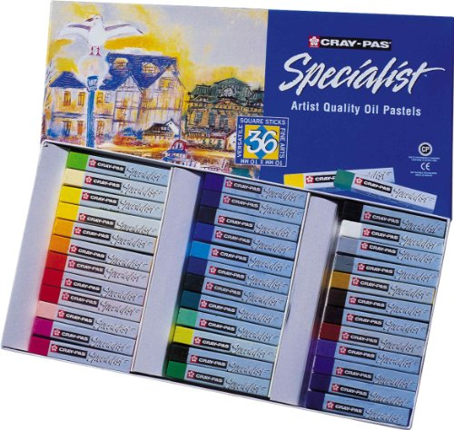 Sakura ESP36 36-Piece Cray-Pas Specialist Assorted Colors Oil Pastel Set