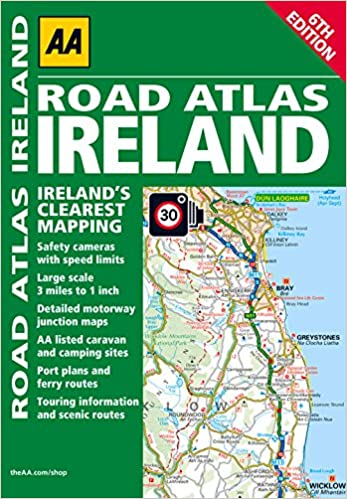 Road Atlas Ireland AA Publishing 9780749572594 Amazoncom Books