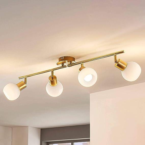 LED Deckenlampe Deckenleuchte Elaina E14 LED Wohnzimmerlampe Flur Messing