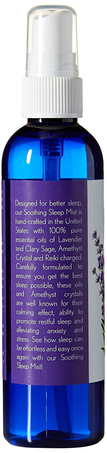 Lavender Mist for Pillows and Bed Sheet Spray. Relaxing Blend of Sage and Lavender and Amethyst Crystals. Reiki Treated. (4oz/8oz Combo Pack) by Soothing Sleep Mist (Image #3)