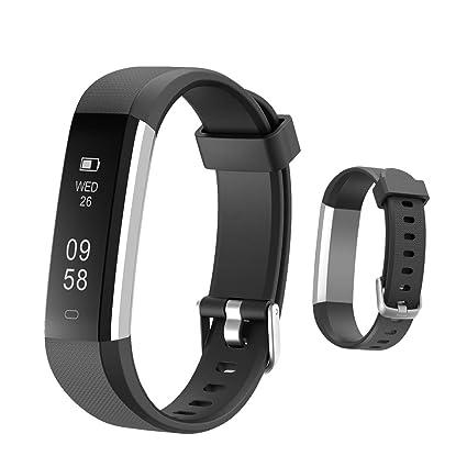 HOTSO Reloj Inteligente, Cómodo Smartwatch Pulsera Deportiva con Pantalla Táctil para Diferente Muñecas Correa Longitud