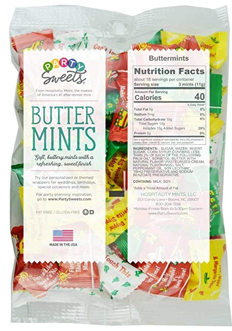 Amazon Com Party Sweets Fiesta Buttermints By Hospitality Mints Appx 300 Mints 7 Ounce Bags Pack Of 6 Candy Grocery Gourmet Food