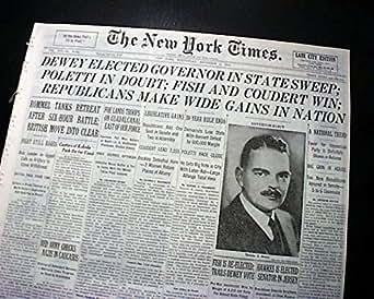 Amazon Com Thomas E Dewey New York Governor Election Win