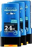 L'Oréal Men Expert Hydra Power Hydratation Intense Gel Douche pour Homme 300 ml - Lot de 3