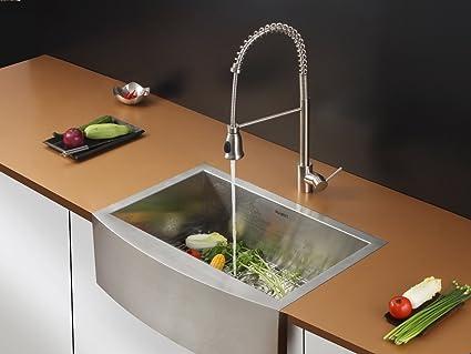 ruvati rvc2458 stainless steel kitchen sink and stainless steel rh amazon com