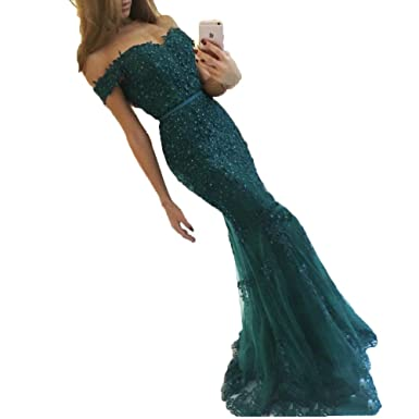 hiprom off the shoulder sweetheart prom dress mermaid formal evening