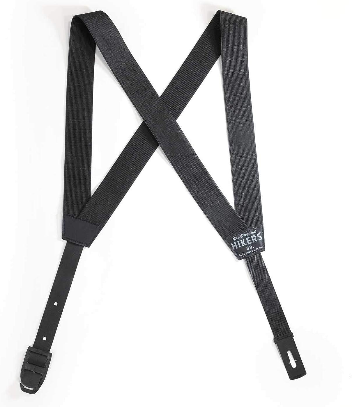 HIKERS Hidden Suspenders for Men, Invisible & Adjustable Belt Alternative, Black