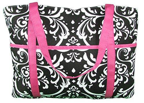 Hot Pink Black Diaper Bags - 2
