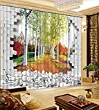 Sproud 3D Printing Curtains Room Decorations Blackout Cortians Beautiful Full Light Shading Bedroom Room Curtain 260Dropx300Wide(Cm) 2 pieces
