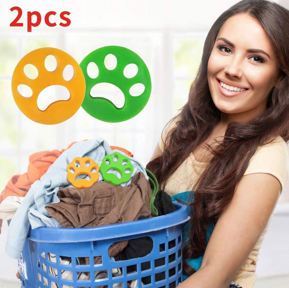Idepet Removedor de pelo para mascotas para lavandería 2PCS, lavadora Eliminador de piel para mascotas Lavadora de piel para mascotas Secadora de bolas flotantes para ropa de cama