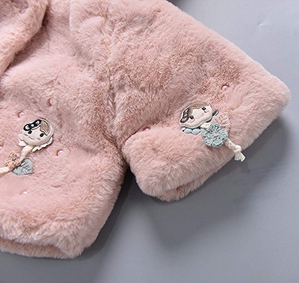 Toddler Kids Baby Girl Boy Winter Thick Warm Hooded Cloak Outwear Coat Jacket