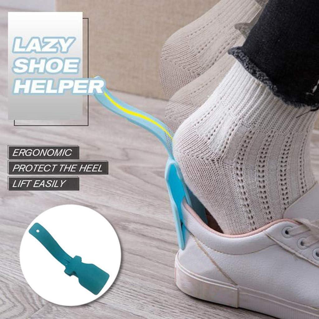 1PC, White Portable Sock Slider,Handled Shoe Horn Lazy Shoes Helper Fits for All Shoes for Men,Women /& Kids Easy on Easy Off Shoe Lifting Helper Lazy Shoe Helper