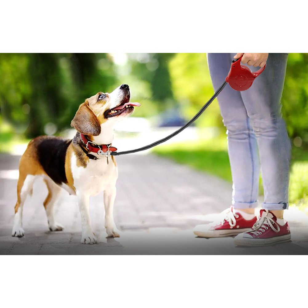 SHUX Retractable Dog Leash and Cat Leash Pet Tractor Dog Chain Walk Dog Rope(Red)