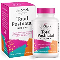 Pink Stork Total Postnatal + DHA: Support for Postpartum + Breastfeeding Vitamins...