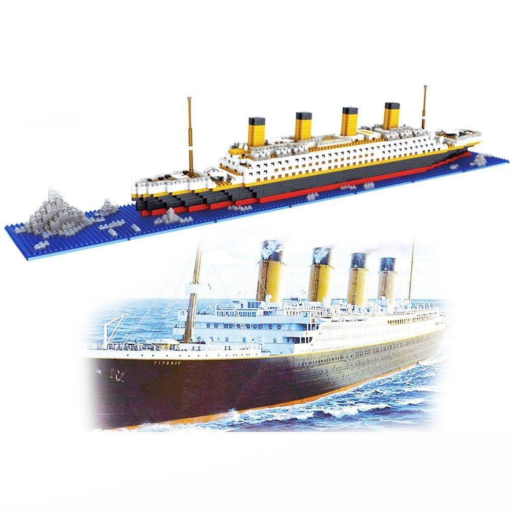 dOvOb Nanoblock Titanic Model Building Block Set, Intellective Building Bricks,3D Puzzle DIY Educational Toy, Gift for Adults and Children(1860 pcs)