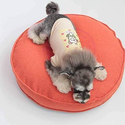 SZ JIAOJIAO Perrera Ronda Teddy Golden Retriever Perro Cama Perro Mat Gato Litera Extraíble Mascotas Basura