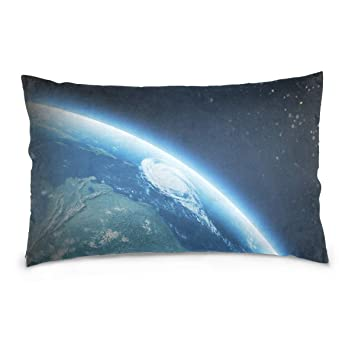 Amazon.com: KMAND Earth - Funda de almohada de algodón color ...