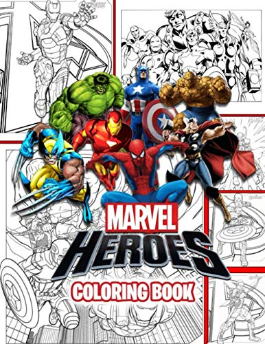 Marvel Heroes Coloring Book: Coloring Book for Any Fan of Marvel