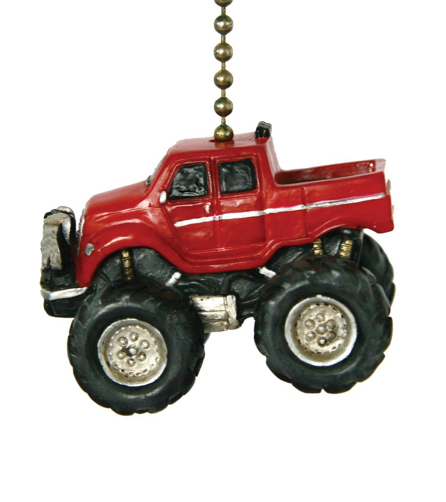 Clementine Design Red Monster Truck Ceiling Fan Pull Decor   Ceiling Fan  Pull Chain Ornaments   Amazon.com