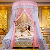 Round dome mosquito net, Double Home Court Princess bed canopies-B Full-size