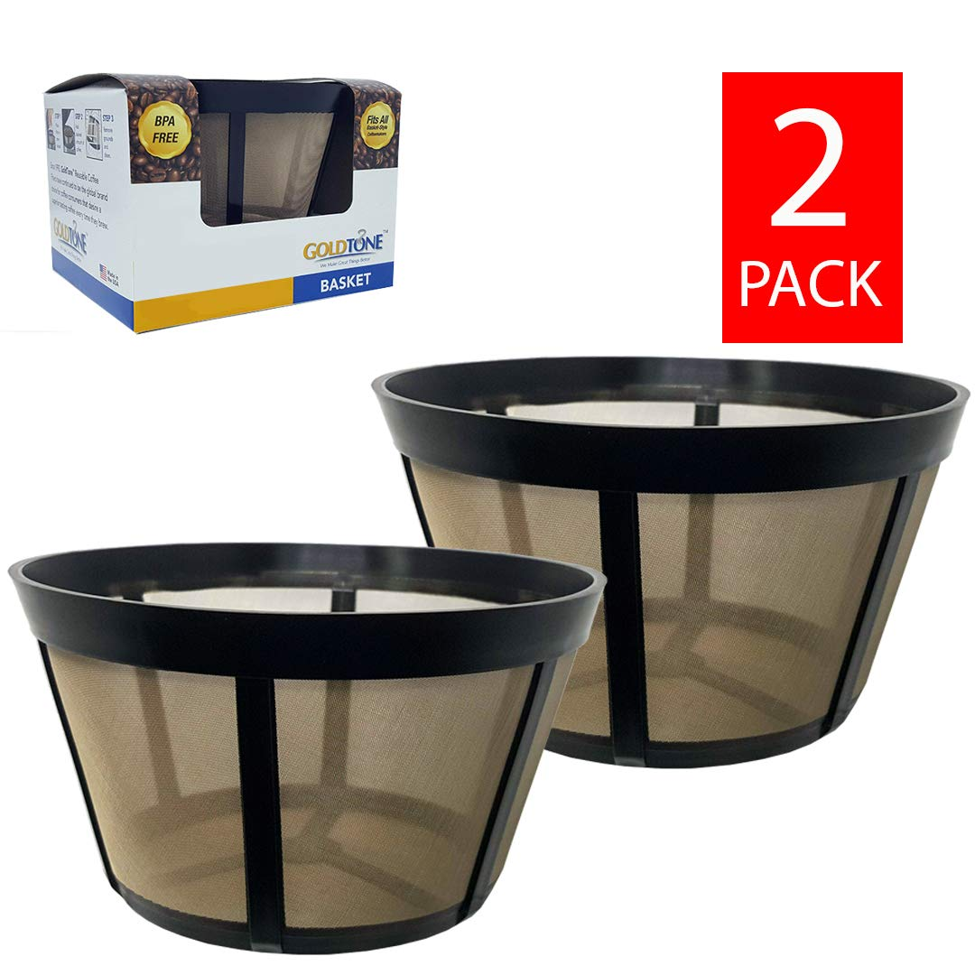 GOLDTONE Reusable Coffee Filter fits BUNN Coffee Maker and Brewer. Replaces your BUNN Coffee Filter 10 Cup Basket and BUNN Permanent Coffee Filter (2 PACK)
