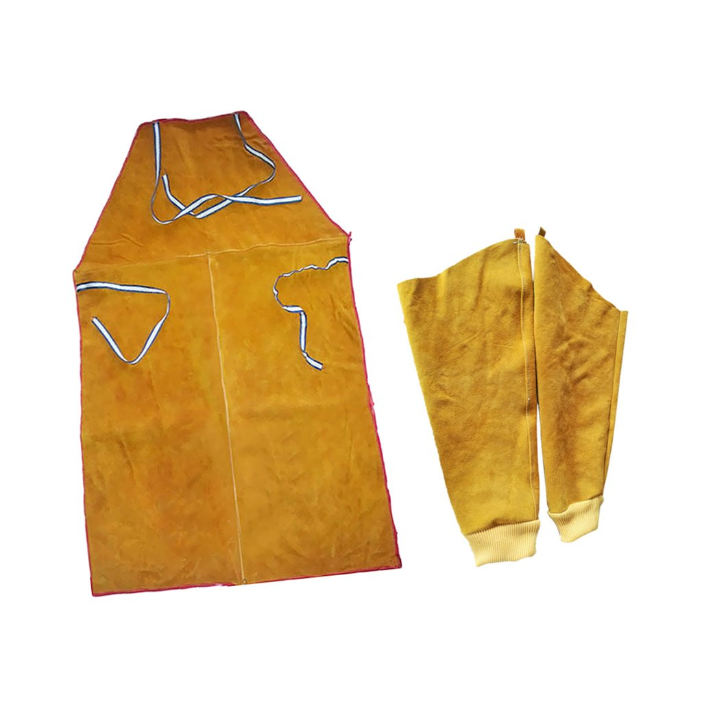 Almencla Welder Apron Welding Protective Clothing Heat Insulation Bib With Sleeves by Almencla (Image #7)