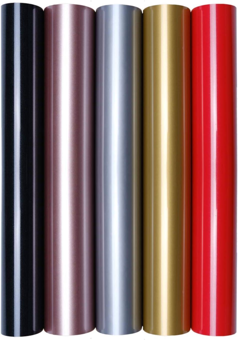 5 láminas de transferencia A4 para planchar sobre textiles, perfectas para plotter, P.S. Film:5er Set Glimmer: Amazon.es: Oficina y papelería