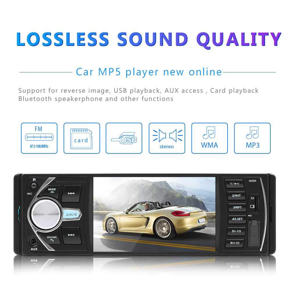 ETbotu - Reproductor de MP3 para Coche de 4,1 Pulgadas, Radio FM para vehí culo, 1 DIN, autoradio, Bluetooth, Audio esté reo, Mp4 Radio FM para vehículo Audio estéreo