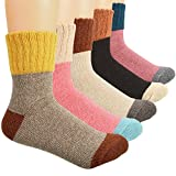 Yolev 5 Paris Women's Wool Warm Socks Winter Crew Socks