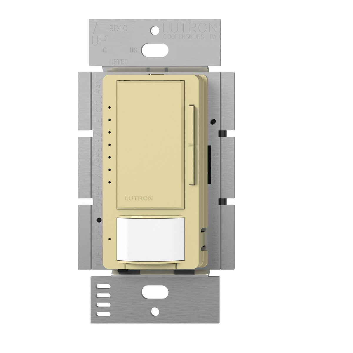 Lutron Maestro C.L Dimmer and Motion Sensor, Single-Pole and Multi-Location, MSCL-OP153M-IV, Ivory