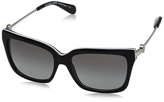2497d251f5 Michael Kors ABELA I MK6038 Sunglasses 312911-54 - Black White Frame ...
