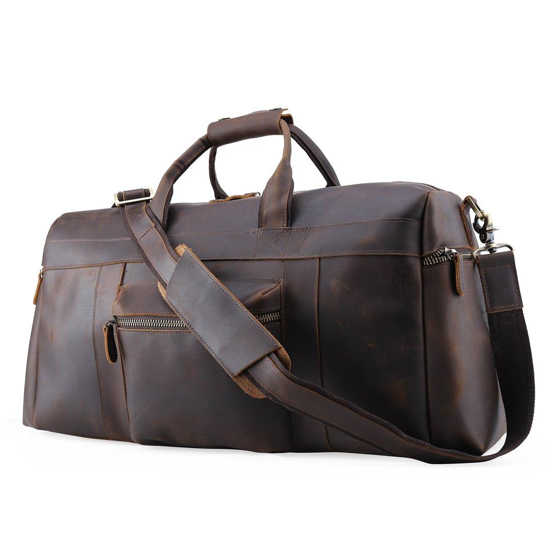 Mens Retro Real Travel Luggage Duffle Gym Bags Gym Sports Weekend Tote Bag by ECOFISH