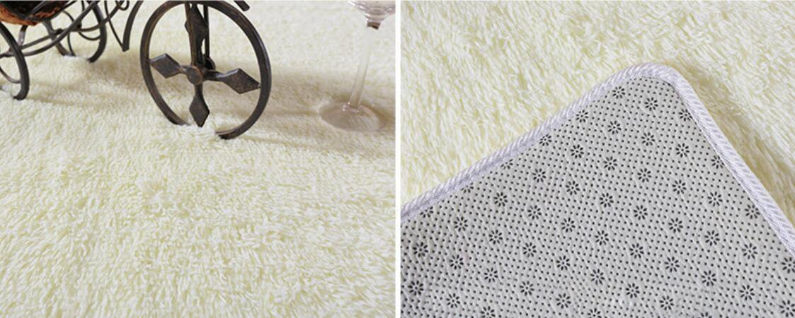 ACTCUT Super Soft Indoor Modern Shag Area Silky Smooth Rugs Fluffy Anti-Skid Shaggy Area Rug Dining Living Room Children Carpet Comfy Bedroom Floor 2.6- Feet by 5- Feet(Grey) SYNCHKG123411
