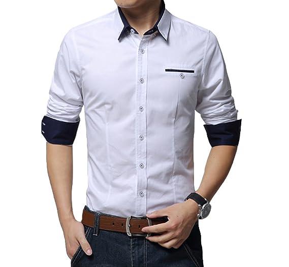Camisa de manga larga para Hombre  - Camisa de moda para fiestas, evento formal.