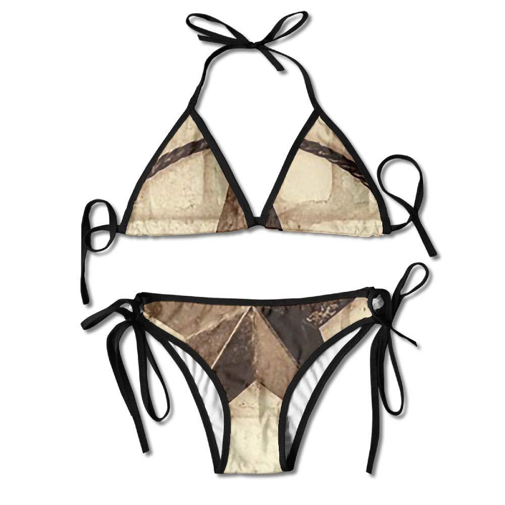 Womans Rustic Retro Star Sexy 2-Piece Bikini Set Swimsuit Bathing Suits Padded Bra by KJDS