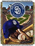 "MLB San Diego Padres Home Field Advantage Woven Tapestry Throw, 48"" x 60"""