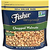 FISHER Chef's Naturals Chopped Walnuts, No Preservatives, Non-GMO Project Verified, 32 Ounce