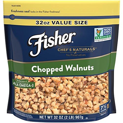 FISHER Chef's Naturals Chopped Walnuts, No Preservatives, Non-GMO, 32 Ounce