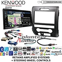 Volunteer Audio Kenwood DNX574S Double Din Radio Install Kit with GPS Navigation Apple CarPlay Android Auto Fits 2009-2014 F-150