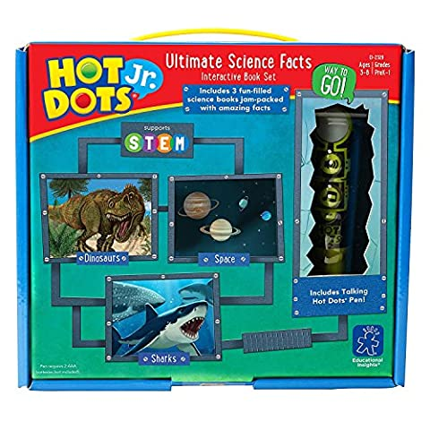 Educational Insights Hot Dots Jr. Ultimate Science Facts Interactive Book Set with Pen (Educational Toys Kindergarten)