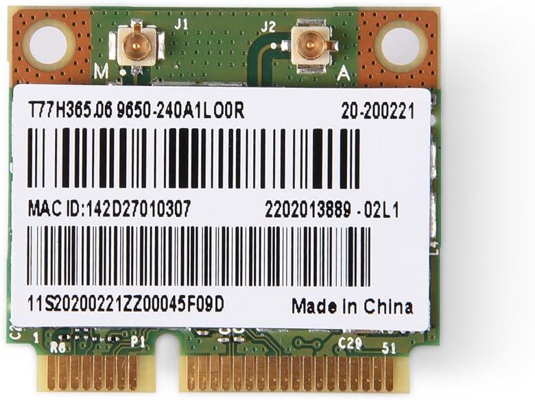 Richer-R Mini Tarjeta de Bluetooth WiFi, 2 en 1 Bluetooth Tarjeta WiFi de Doble Banda,Tarjeta 2,4/5G Dual-Band con Señal Rápida y Estable para Intel 945/965 /PM45/GM45/ HM61/ 65,Laptop,IPC,HTPC.
