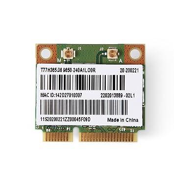 Richer-R Mini Tarjeta de Bluetooth WiFi, 2 en 1 Bluetooth Tarjeta WiFi de Doble Banda,Tarjeta 2,4/5G Dual-Band con Señal Rápida y Estable para Intel ...