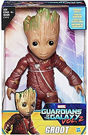 "Marvel Guardians of the Galaxy Vol 2 WALMART EXCLUSIVE 10/"" RAVAGER OUTFIT GROOT"