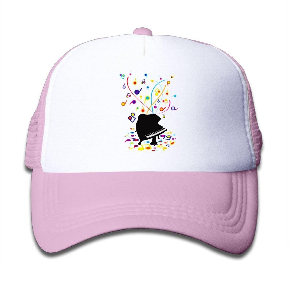 Amazon.com  Qiop Nee Pink Mesh Baseball Cap Adjustable Youth Hat Piano  Rainbow Sheet Music Unisex  Clothing 226612800949