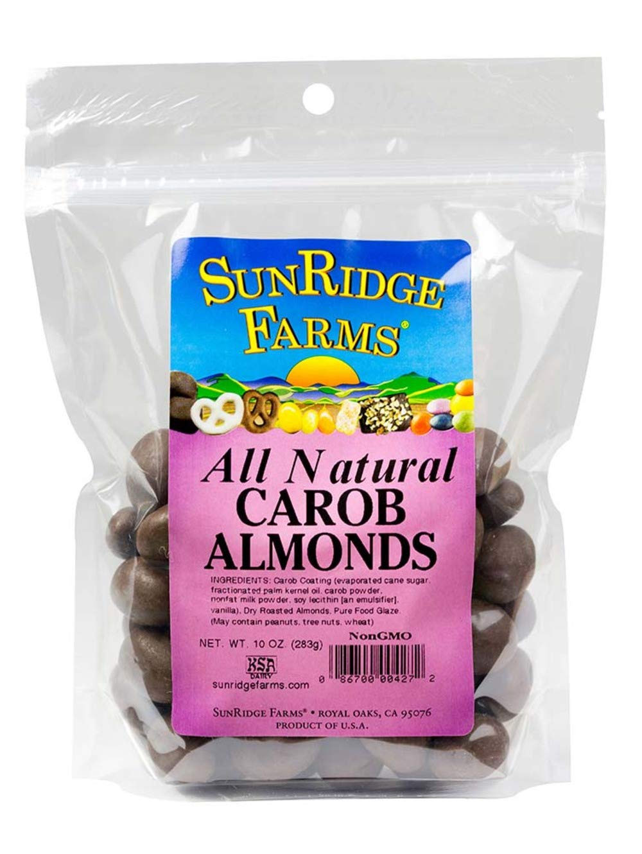 SunRidge Farms NonGMO Carob Almonds (12-10 Ounce Bags)