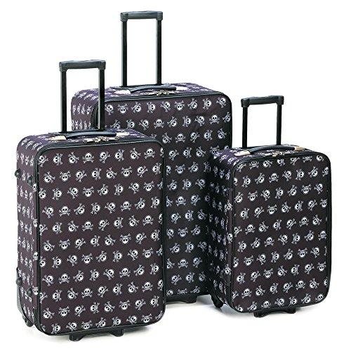Smart Living Company Stylish Skull Luggage Trio by Smart Living